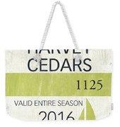 Beach Badge Harvey Cedars Weekender Tote Bag
