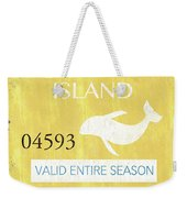 Beach Badge Long Beach Island 2 Weekender Tote Bag