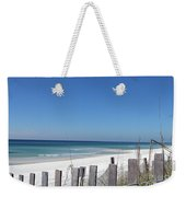 Beach Behind The Fence Weekender Tote Bag