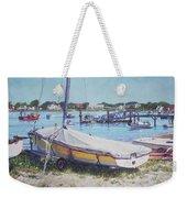 Beach Boat Under Cover Weekender Tote Bag