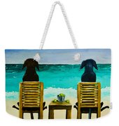 Beach Bums Weekender Tote Bag by Roger Wedegis