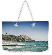Beach By Jaffa Yafo Old Town Area Of Tel Aviv Israel Weekender Tote Bag