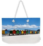 Beach Cabins  Weekender Tote Bag by Fabrizio Troiani