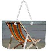 Beach Chair And Ocean Stripes Weekender Tote Bag
