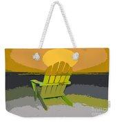 Beach Chair Work Number Seven Weekender Tote Bag