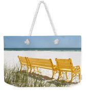 Beach Chairs By Darrell Hutto Weekender Tote Bag