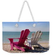 Beach Chairs Weekender Tote Bag