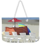 Beach Chairs Weekender Tote Bag by Lori Seaman