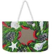 Beach Christmas Wreath Weekender Tote Bag