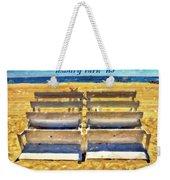 Beach Closed Asbury Park Nj Weekender Tote Bag