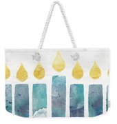 Beach Colors Menorah- Art By Linda Woods Weekender Tote Bag