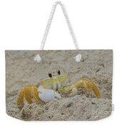 Beach Crab In Sand Weekender Tote Bag