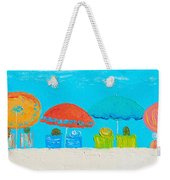 Beach Decor - Umbrellas Panorama Weekender Tote Bag