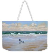 Beach Dog Walk Weekender Tote Bag