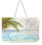 Beach Etching Weekender Tote Bag by Darren Cannell