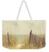 Beach Fence In Grassy Dune South Carolina Weekender Tote Bag