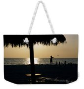 Beach Frisbee At Sunset On Marco Island Florida Weekender Tote Bag