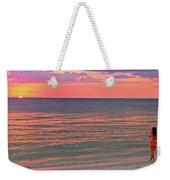 Beach Girl And Sunset Weekender Tote Bag