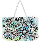 Beach Glass Flowers 1- Art By Linda Woods Weekender Tote Bag