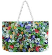 Beach Glass Mix Weekender Tote Bag