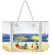 Beach House Window Weekender Tote Bag