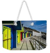 Beach Huts At Barry Island Weekender Tote Bag