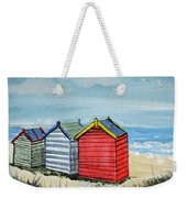 Beach Huts On The Sand Weekender Tote Bag