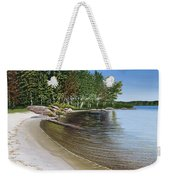Beach In Muskoka Weekender Tote Bag
