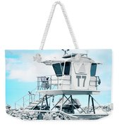 Beach Lifeguard Tower Weekender Tote Bag