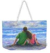 Beach Lovers Pink And Green Weekender Tote Bag