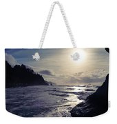 Beach - Oregon - Golden Sun Weekender Tote Bag