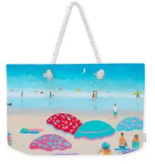 Beach Painting - A Golden Day Weekender Tote Bag