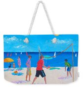Beach Painting Beach Volleyball  By Jan Matson Weekender Tote Bag