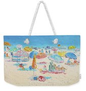 Beach Painting - Crowded Beach Weekender Tote Bag