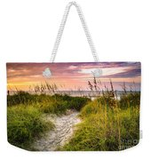 Beach Path Sunrise Weekender Tote Bag