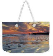 Beach Play At Dusk Weekender Tote Bag