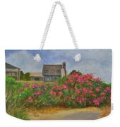 Beach Roses And Cottages Weekender Tote Bag