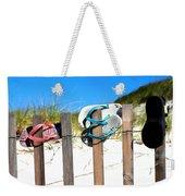 Beach Sandels  Weekender Tote Bag
