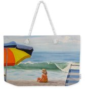 Beach Scene - Childhood Weekender Tote Bag