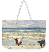 Beach Scene Tangier Weekender Tote Bag