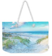 Beach Scripture Verse  Weekender Tote Bag