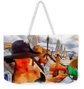Beach Sea Girl Sun Weekender Tote Bag