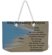 Beach Serenity Prayer Weekender Tote Bag