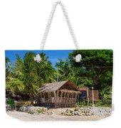 Beach Side Nipa Hut Weekender Tote Bag