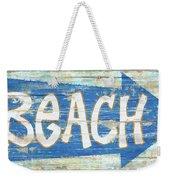 Beach Sign Weekender Tote Bag