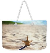 Beach Starfish Wood Texture Weekender Tote Bag