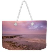 Beach Sunset In Connecticut Landscape Weekender Tote Bag