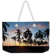Beach Sunset Weekender Tote Bag by Mike Reid