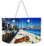 Beach Tiger  Weekender Tote Bag