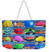 Beach Umbrella Medley Weekender Tote Bag